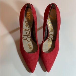 Sam Edelman Pumps Woman's Size 8 Red Suede